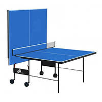Теннисный стол для помещения GSI-Sport Athletiс Premium синий Gk-3.18  + Набор для настольного тенниса (2р+3м)