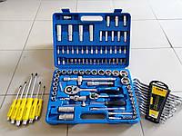 Набор инструментов 94 ед + 12 комбинированных ключей+6 ударн отверток