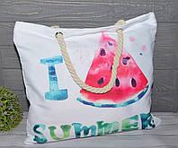Женская тканевая пляжная сумка Арбуз, фото 1