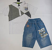 Летний костюм футболка с шортами, на мальчика