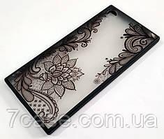 Чехол Yotoo пластиковый для Sony Xperia XA1 G3112 с рисунком цветы