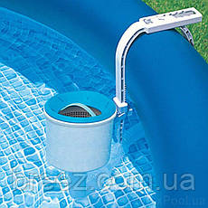 Скиммер для бассейна маленький поверхностный Intex 18946 от фильтр-насоса 1 200 - 6 000 л/ч , фото 2