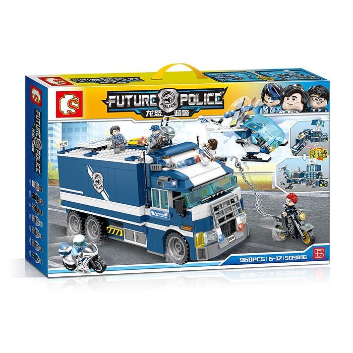 "Конструктор Sembo 509816 ""Полицейский участок - фургон"" (аналог Lego City), 960 дет"