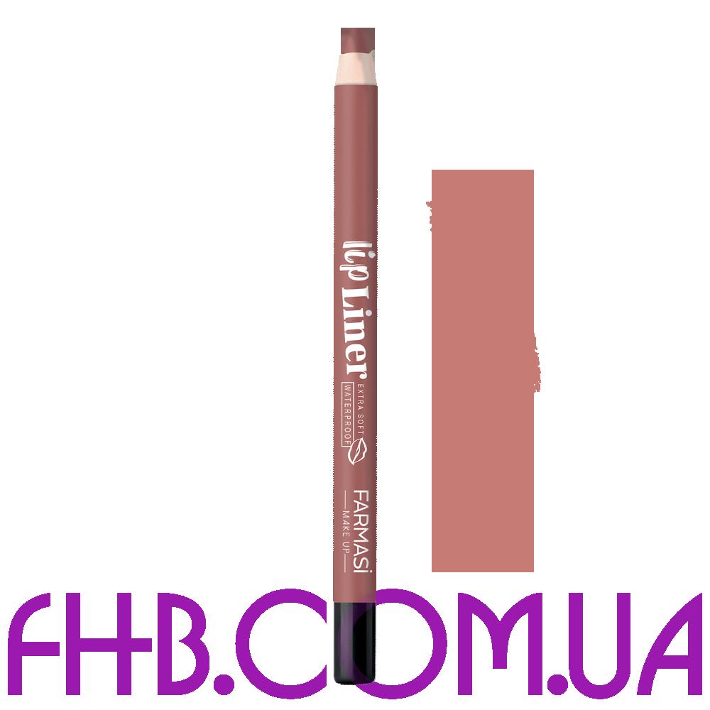 Водостійкий олівець для губ Lip Liner 01 Натуральний нюд