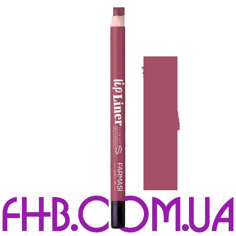 Водостійкий олівець для губ Lip Liner 03 Ніжно ліловий