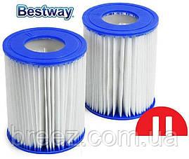 Сменный картридж для фильтр насоса Bestway 58094 тип II 6 шт 13.6 х 10.6 см , фото 2