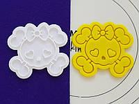 Формочка-вырубка для пряника + штамп НАбор хэллоуина №1 - Череп №2