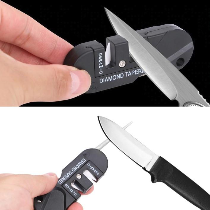Карманная  трехступенчатая керамическая карбидная точилка для ножей с алмазным покрытием