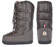 Дутики женские луноходы термо Moon Boots Olive самая теплая обувь, Хаки, 41/42