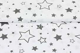 Муслин Галактика серая 160 см