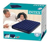 Надувной полуторный матрас Intex 68758 (137см х191см х 22см)