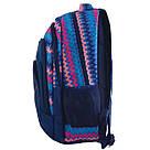 """Рюкзак школьный Smart SG28 """"Zig-zag"""" для девочек 31*43*12.5 см синий (557077), фото 2"""