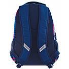 """Рюкзак школьный Smart SG28 """"Zig-zag"""" для девочек 31*43*12.5 см синий (557077), фото 3"""