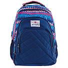 """Рюкзак школьный Smart SG28 """"Zig-zag"""" для девочек 31*43*12.5 см синий (557077), фото 4"""