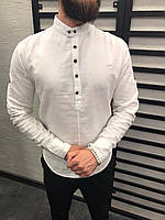 Рубашка мужская белая / ЛЮКС КАЧЕСТВО / весна лето / мужская рубашка белая