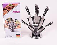 Набор кухонных ножей на подставке 9 предметов Benson BN-406