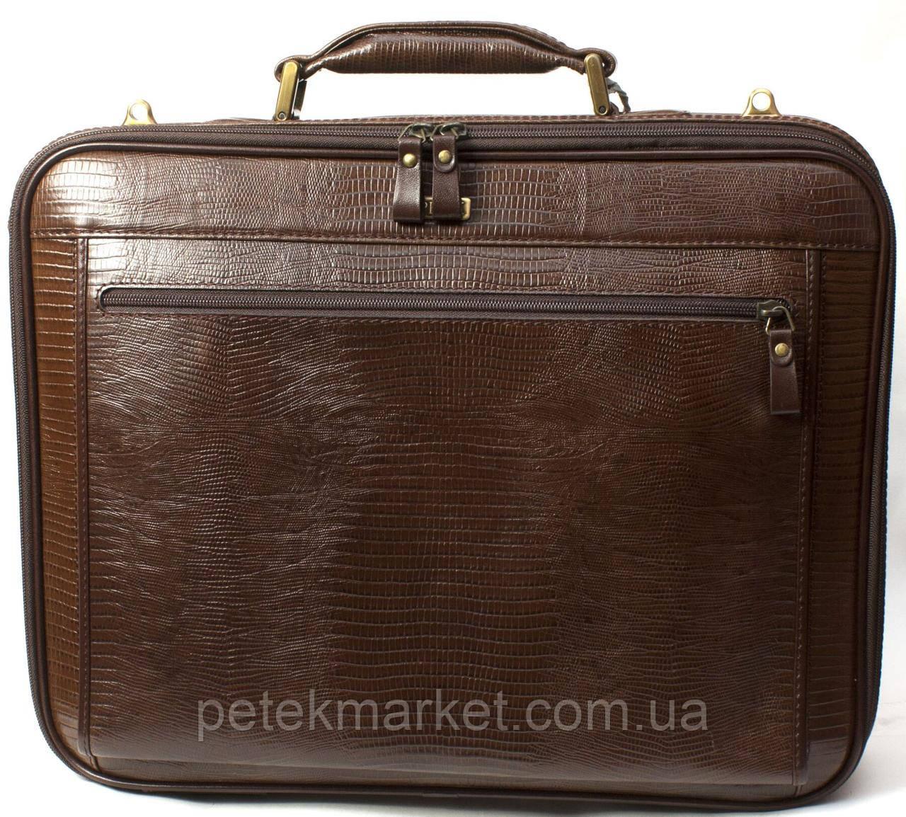 Кожаный портфель для ноутбука Petek 3870