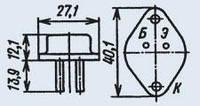 Транзистор КТ808АМ кремниевые мезапланарные