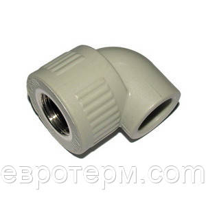 Колено (угол) с резьбой внутренней  20*1/2 (КРВ) для полипропиленовых труб