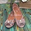 Женские кожаные босоножки на плоской подошве, цвет визон, фото 3