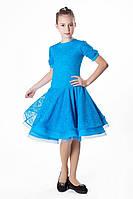 Платье рейтинговое (бейсик) PR762428 Каролина голубой
