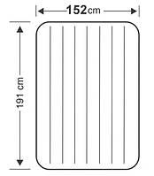 Надувной двухспальный матрас Intex 68759 (152см х203см х 22см), фото 2