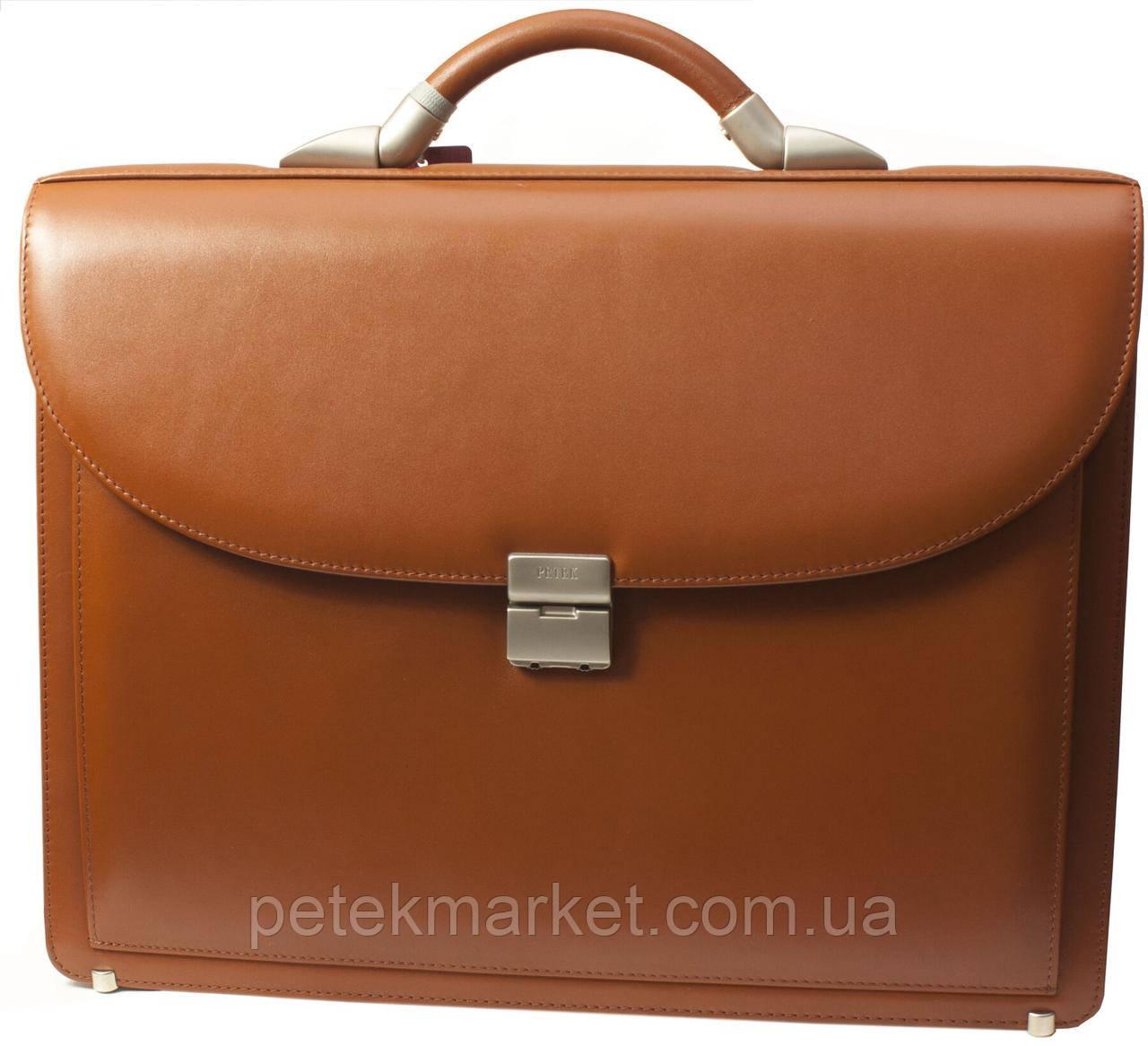 Деловой кожаный портфель Petek 846/M2-000-05