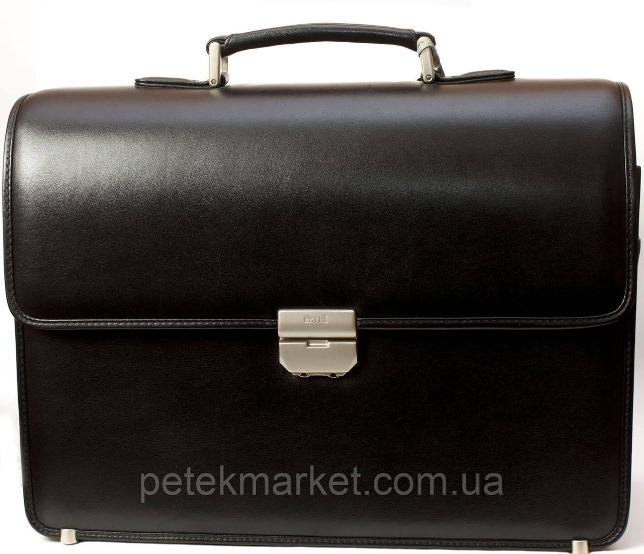 Кожаный деловой портфель, портфель для ноутбука Petek 841-000-01