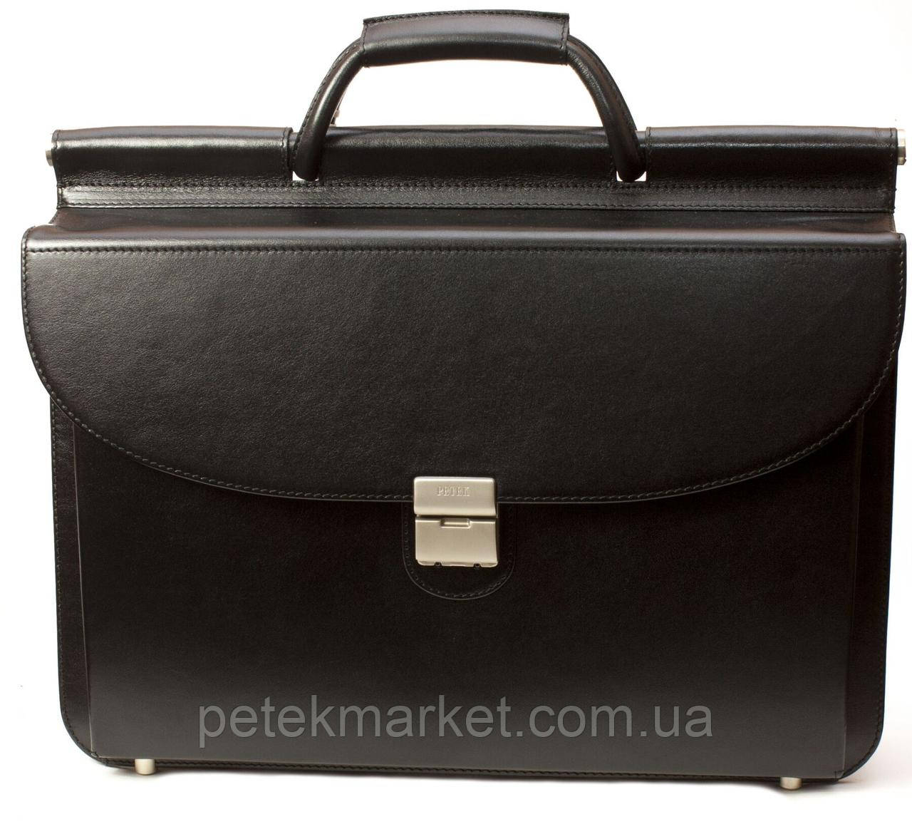 Кожаный двухсторонний портфель Petek 815-000-01