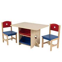 Детский стол з ящиками и двумя стульями Star Table & Chair Set KidKraft 26912