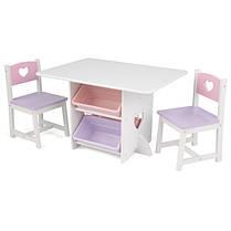 Детский стол з ящиками и двумя стульями Star Table & Chair Set KidKraft 26913 - розовый
