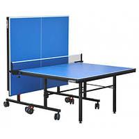 Теннисный стол для помещения GSI-Sport G-profi (синий) G-profi  + Набор для настольного тенниса (2р+3м)