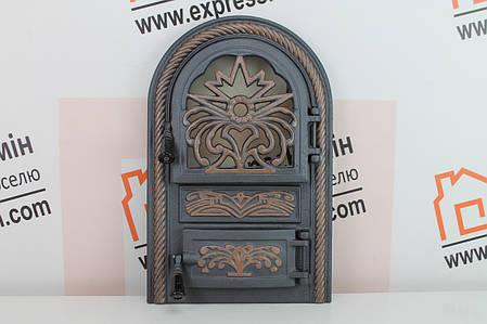 Дверцы печные со стеклом «ELIT» 340х540, фото 2