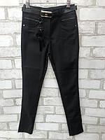 Школьныебрюки классика для девочки от 6 до 11лет чёрные с вставками на карманах, фото 1