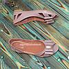 Женские кожаные босоножки на плоской подошве, цвет визон, фото 5