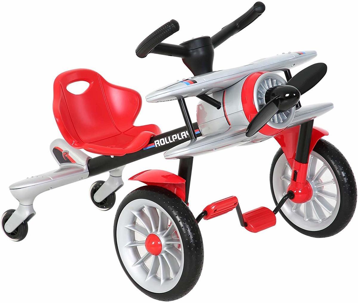 Детский велокарт Go-Kart Rollplay Planado silver