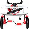 Детский велокарт Go-Kart Rollplay Planado silver, фото 2