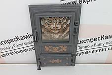 Дверцы печные со стеклом «WOOLF» 310х520, фото 3