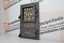 Дверцы печные со стеклом «WOOLF» 310х520, фото 2