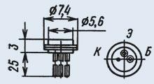 Транзистор 2Т301Е  универсальны