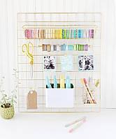 Органайзер сетка Crate Paper Wire System Grid Panel - Gold