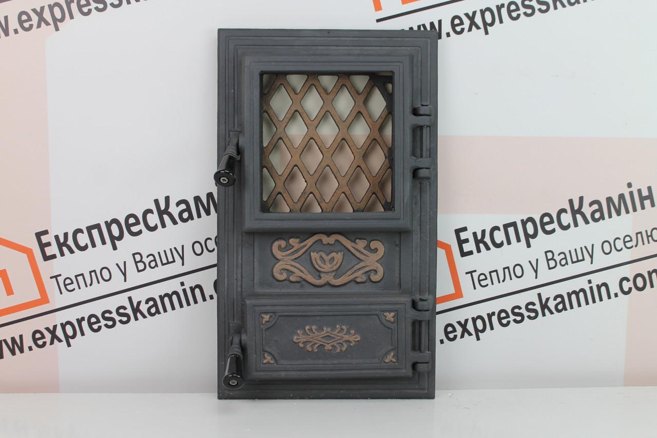 Дверцы печные со стеклом «CLASSIC» 310х520