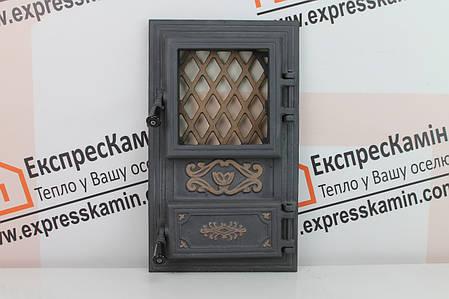Дверцы печные со стеклом «CLASSIC» 310х520, фото 2