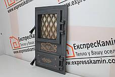 Дверцы печные со стеклом «CLASSIC» 310х520, фото 3