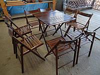 Комплект мебели для пикника — набор «Шоколад 1»: стол и стулья 4 шт