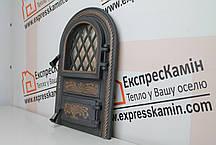 Дверцята пічні зі склом «PREMIERE» 340х540, фото 2