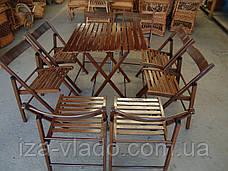 Комплект мебели для пикника — набор «Шоколад 1»: стол и стулья 4 шт, фото 3