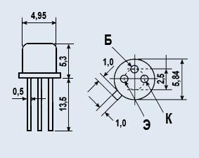 Транзистор КТ347А кремниевые эпитаксиально-планарные