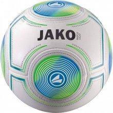 Мяч футбольный Jako Match размер 4 2325-18 цвет: белый/синий/зеленый