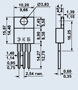 Транзистор КТ818В кремниевые мезаэпитаксиально-планарные